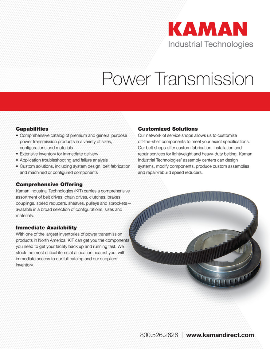 Kaman Distribution Power Transmission Line Card Page 1