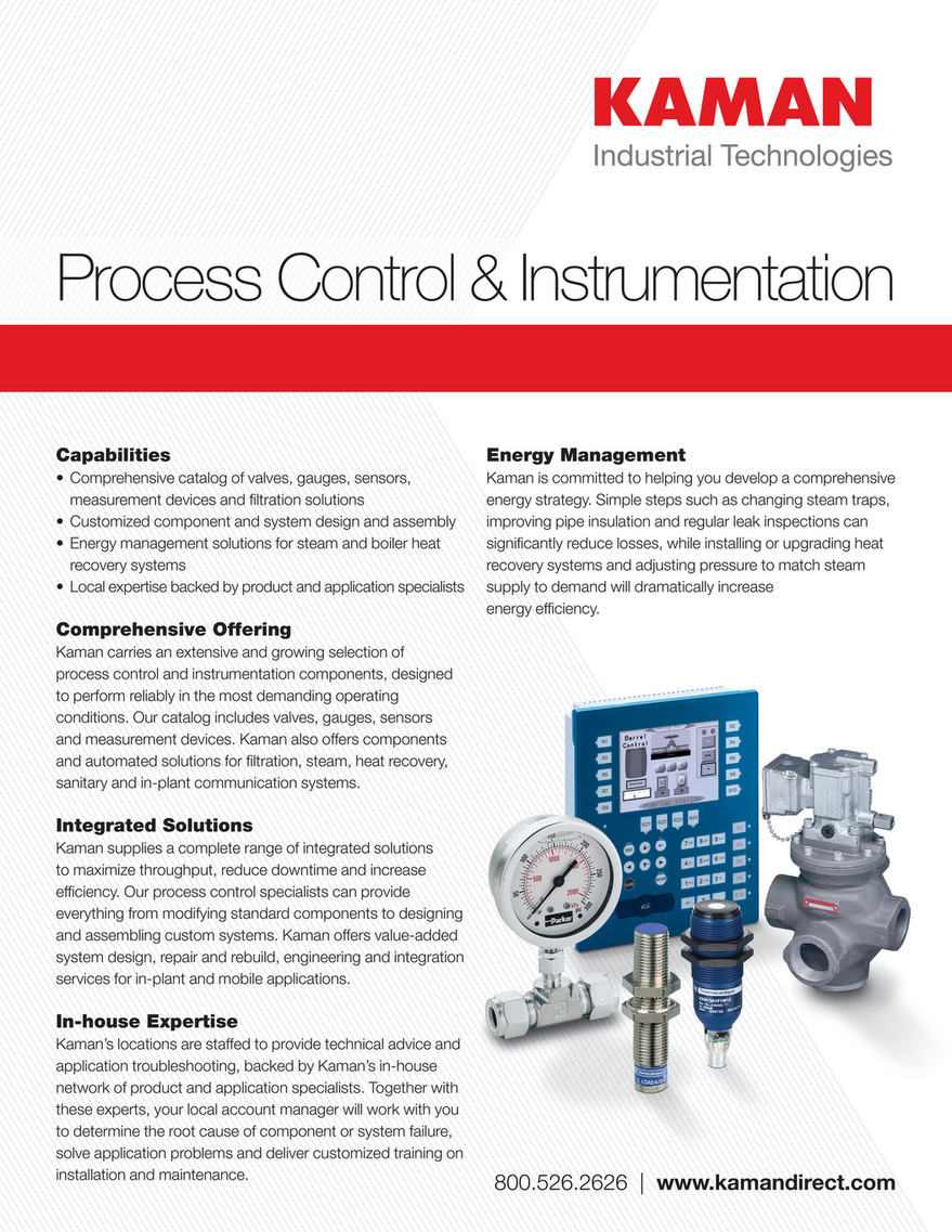 Kaman Distribution - Process Control & Instrumentation Line Card