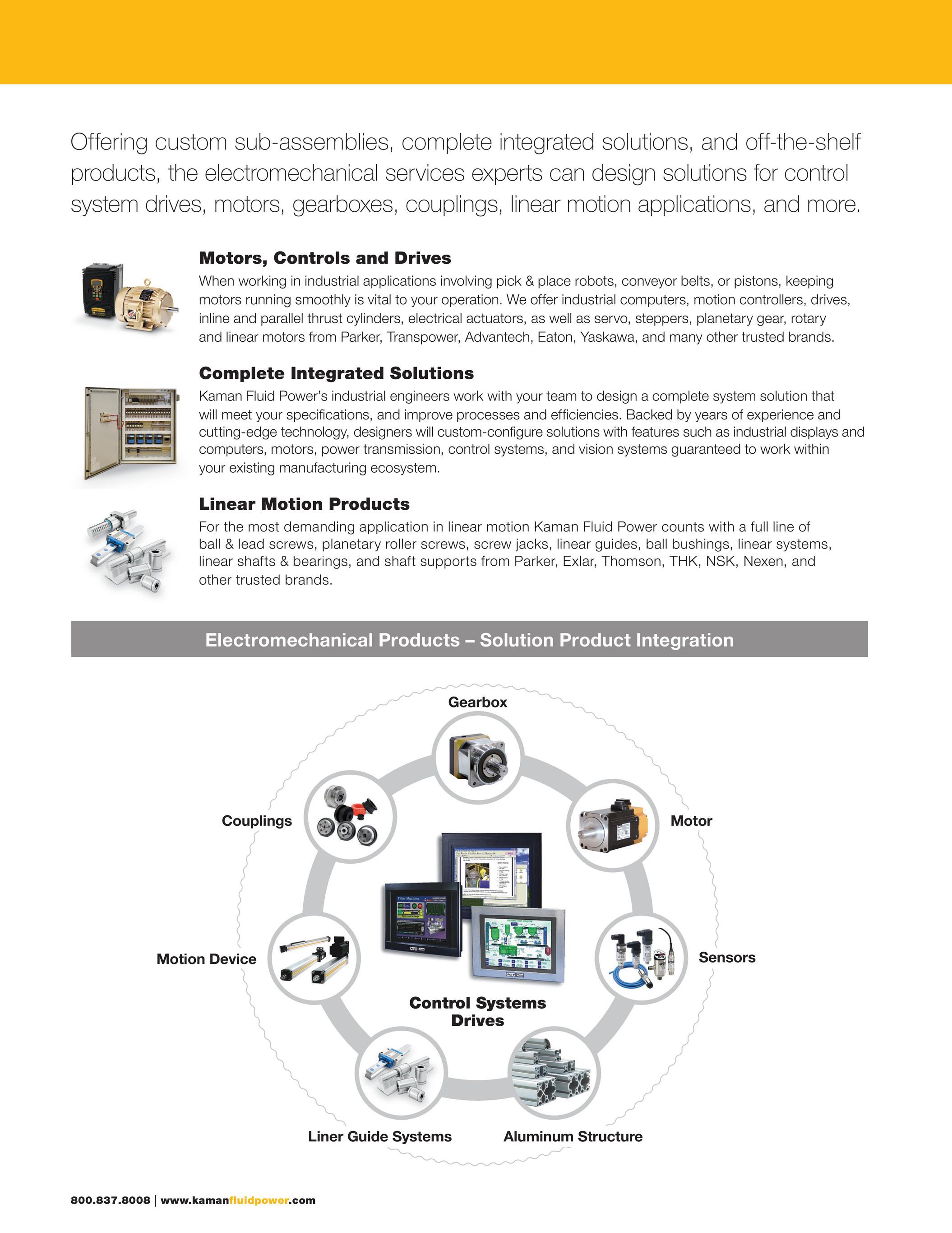Kaman Distribution Kaman Fluid Power Electromechanical Capabilities Page 4