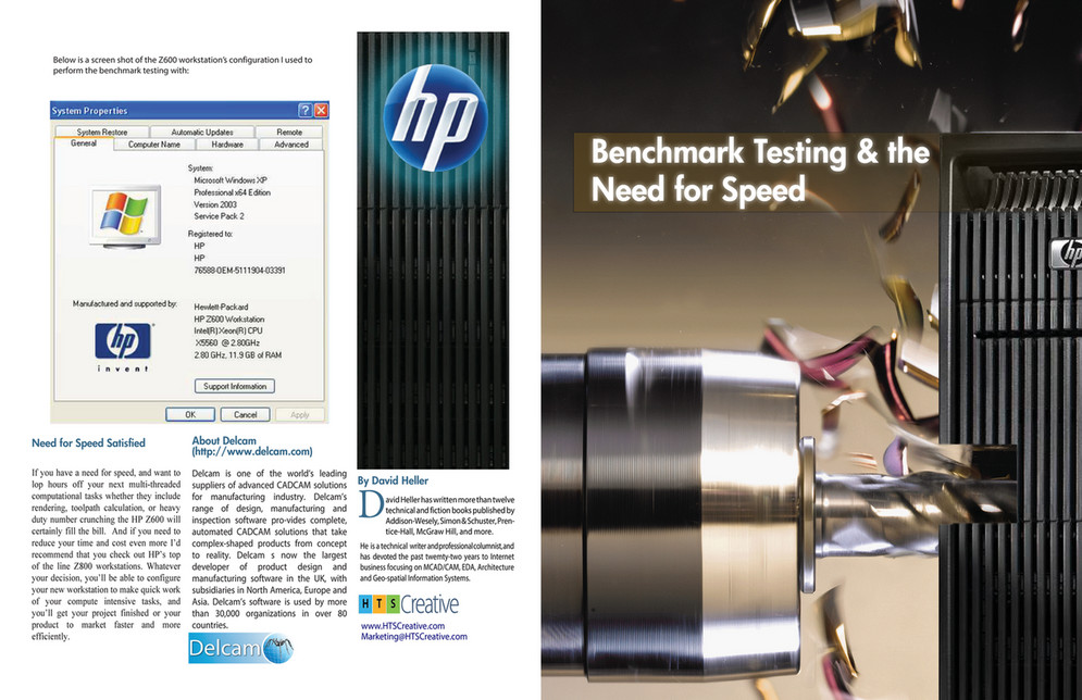 HTS Creative - DELCAM and HPZ600 Workstation Brochure - Page 1