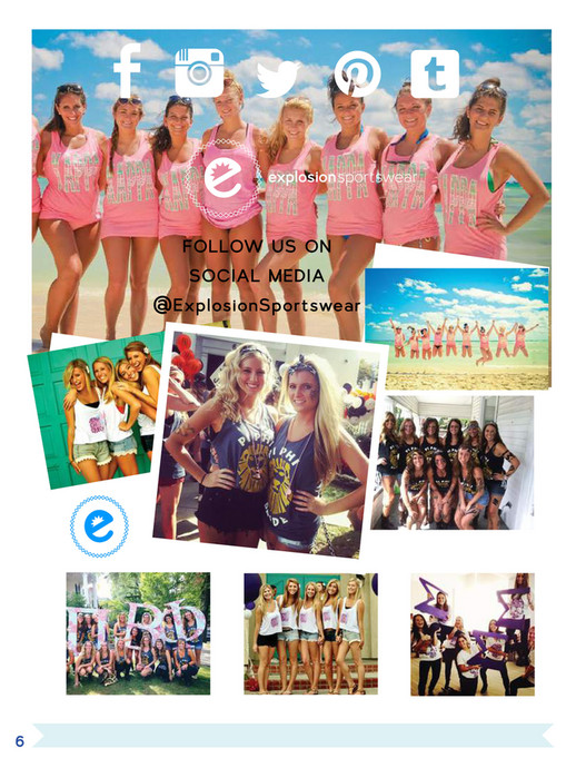 Explosion Sportswear - Greek Apparel Catalog - Page 6-7 - Created