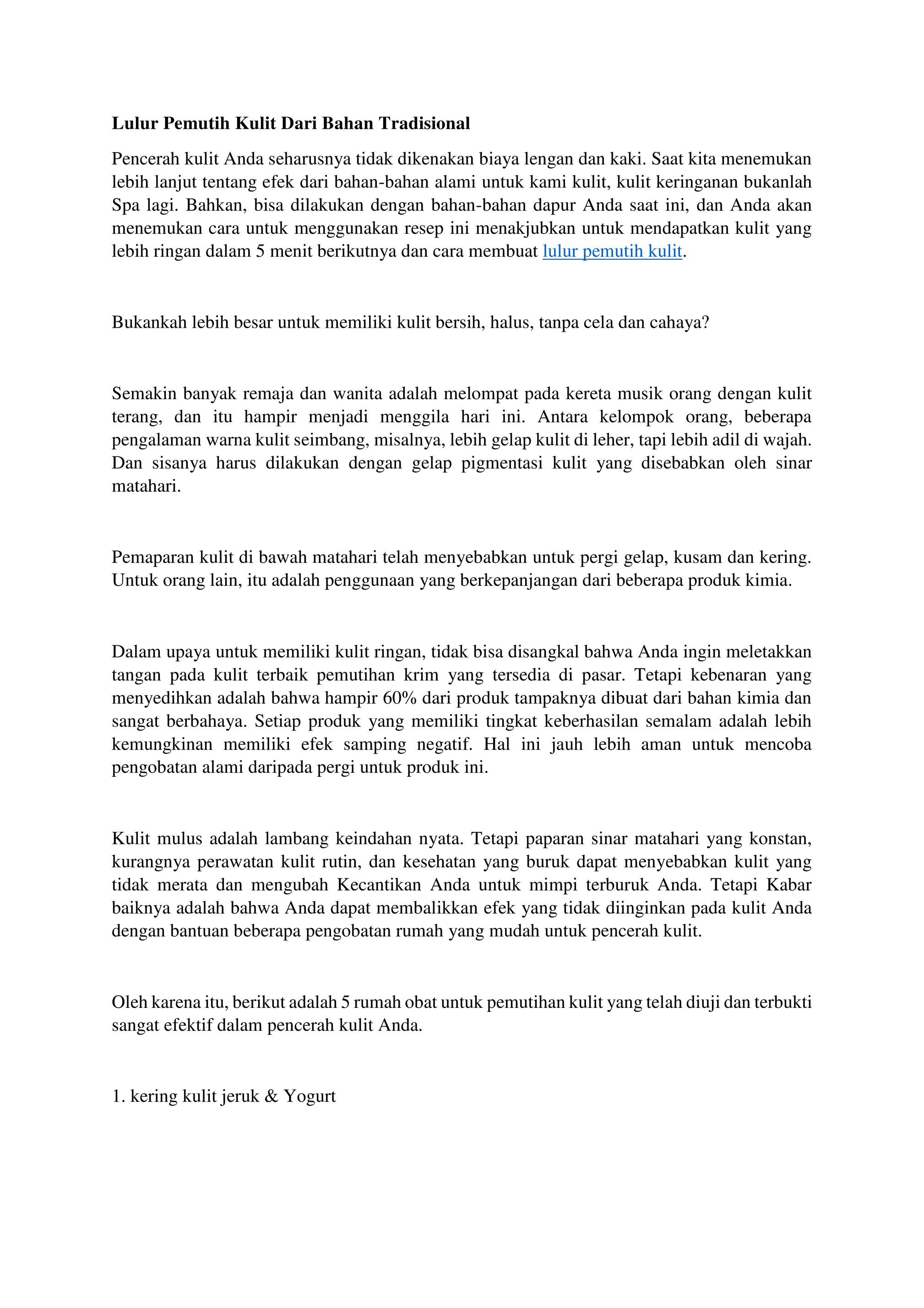 Rosalina Agancy Lulur Pemutih Kulit Dari Bahan Tradisional Page 2 Created With Publitas Com