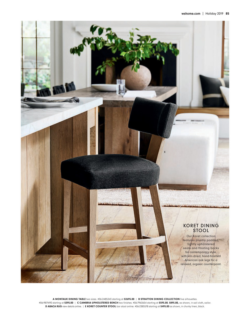Enjoyable Williams Sonoma Home Wsh Holiday 2019 Koret Dining Bar Alphanode Cool Chair Designs And Ideas Alphanodeonline