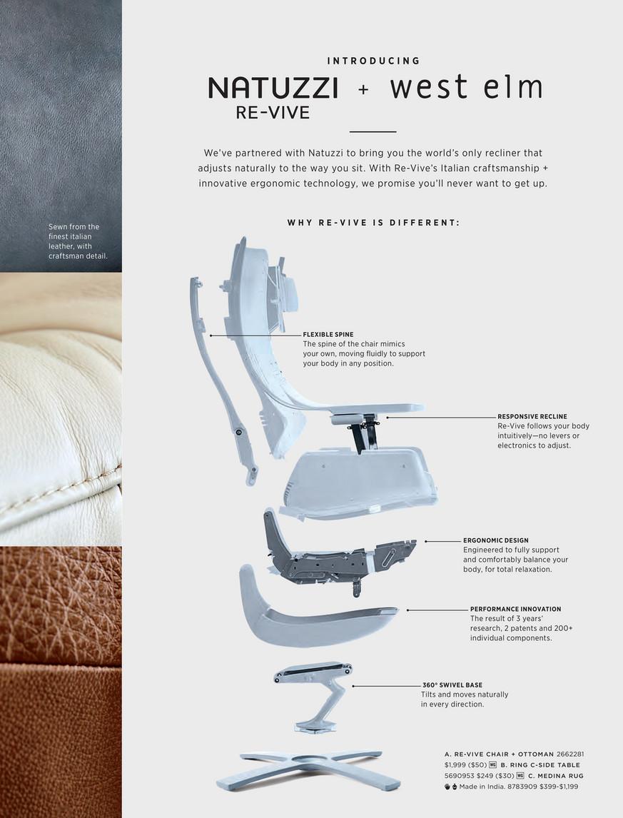 Miraculous West Elm July 2017 Natuzzi Re Vive Leather Recliner Short Links Chair Design For Home Short Linksinfo