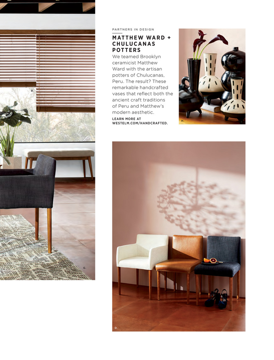 West Elm July 2017 Ellis Upholstered Arm Chair Yarn Dyed Linen Weave Indigo Pecan