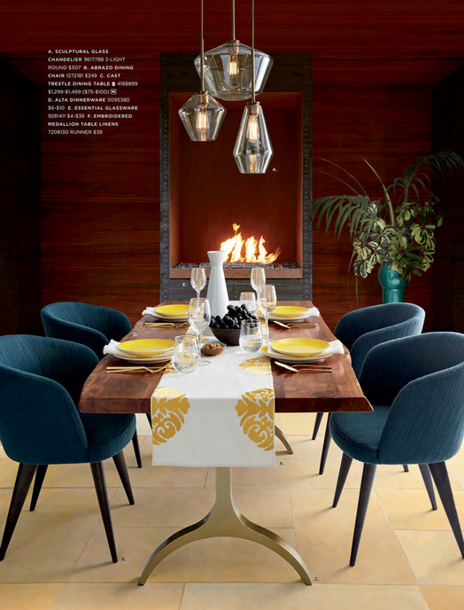 A Sculptural Glass Chandelier 9617788 3 Light Round 307 B Abrazo Dining Chair