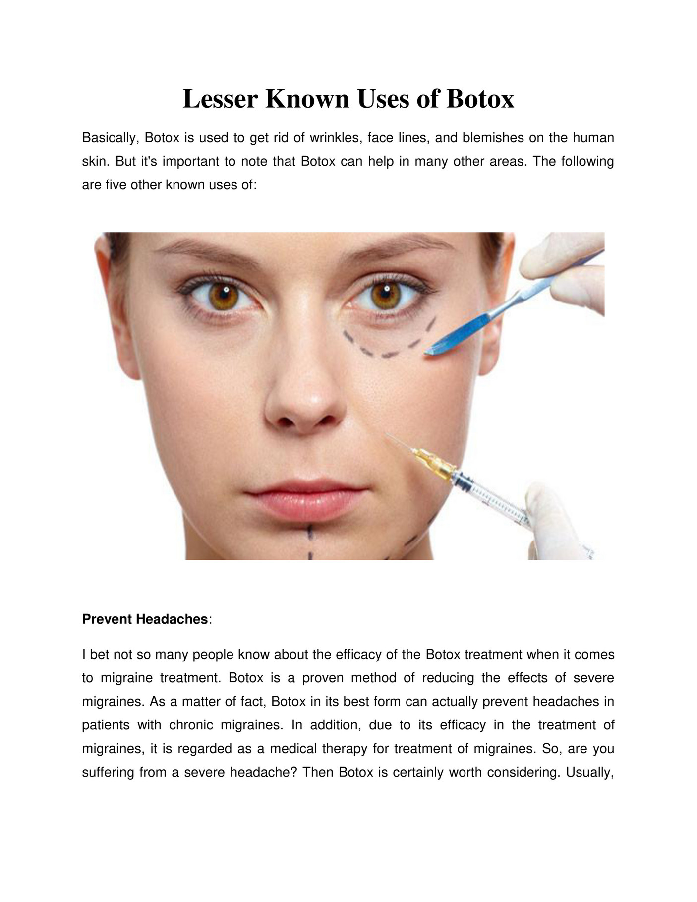 GIT Expert - Lesser Known Uses of Botox - Page 1 - Created