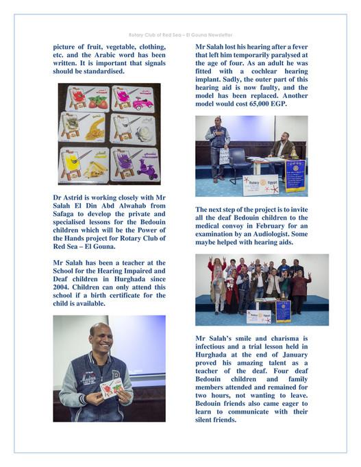 Rotary Club Red Sea El Gouna January 2018 Newsletter Of Rotary