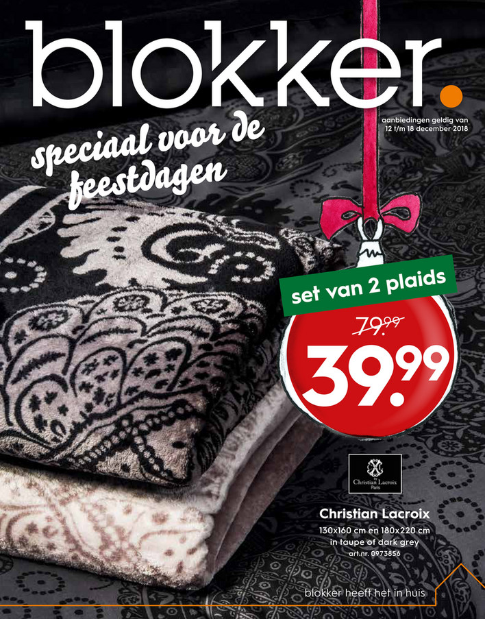 Blokker folder van 12/12/2018 tot 18/12/2018 - Weekpromoties 51