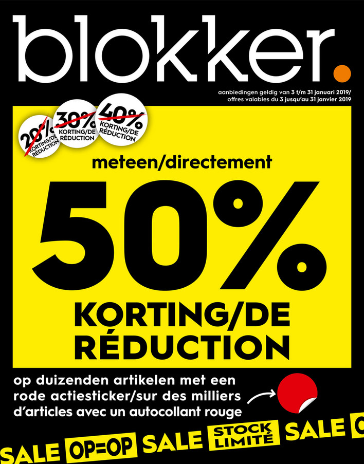 Blokker folder van 02/01/2019 tot 31/01/2019 - Weekpromoties 1b