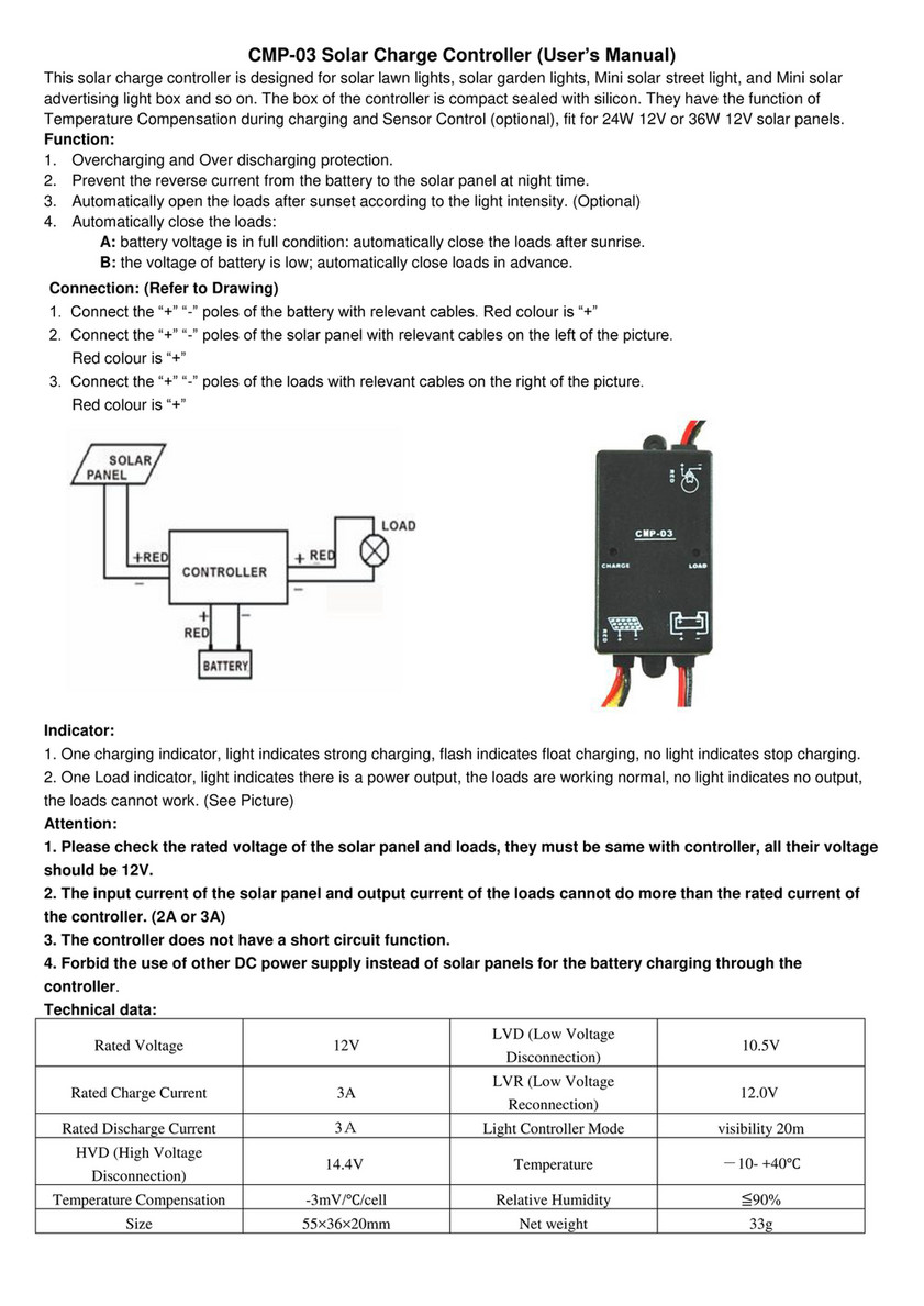 Solar Camping Australia Cmp03 Charge Controller Manual High Current Battery Charger Cmp 03 Users This Is Designed