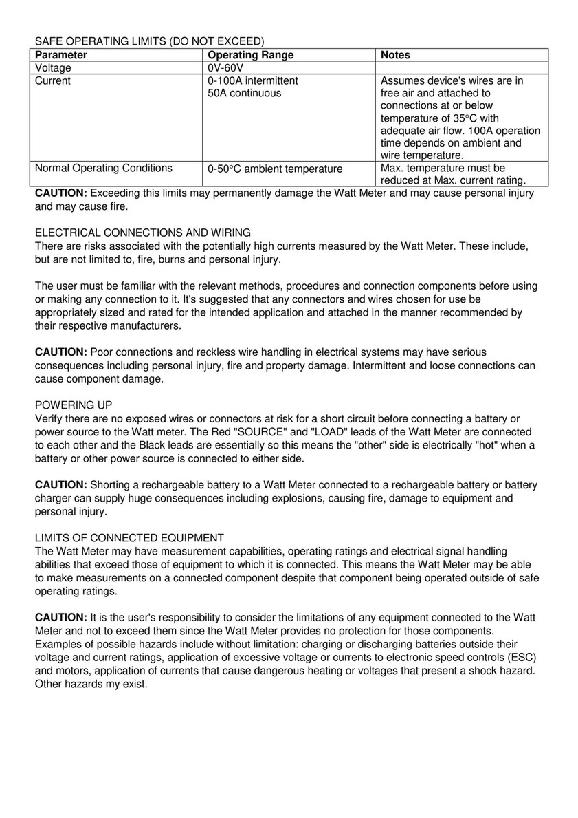 Solar Camping Australia - Watt Meter Manual - Page 2 - Created with ...