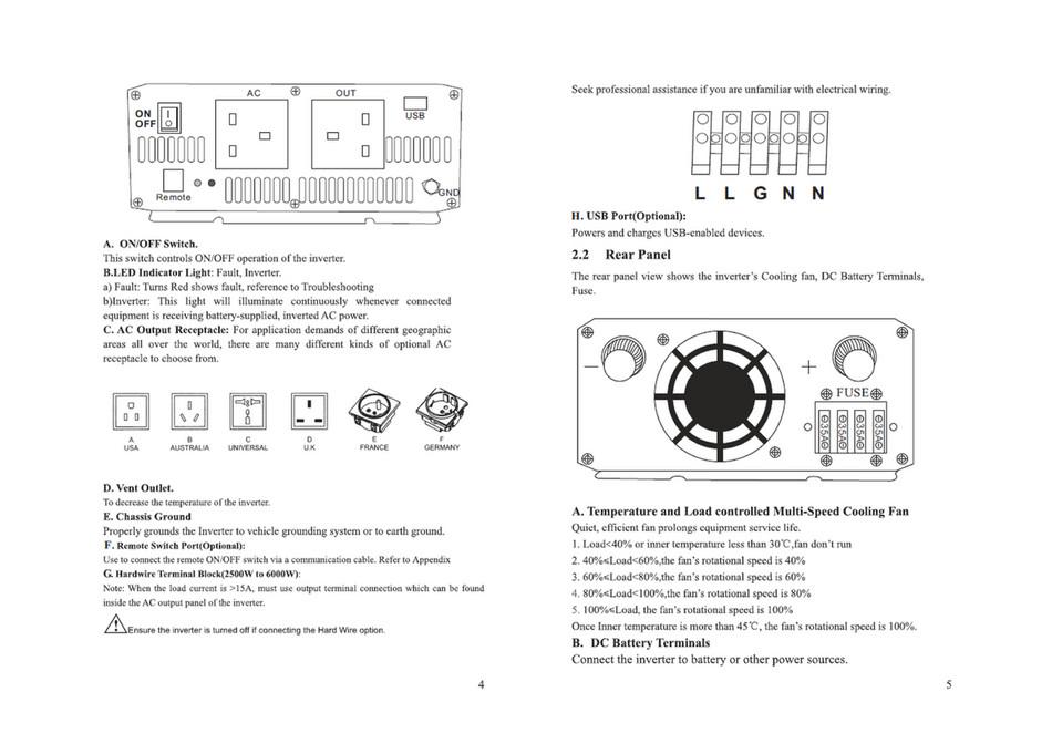 Solar Camping Australia - Pure Sine Wave Inverter Manual - Page 1