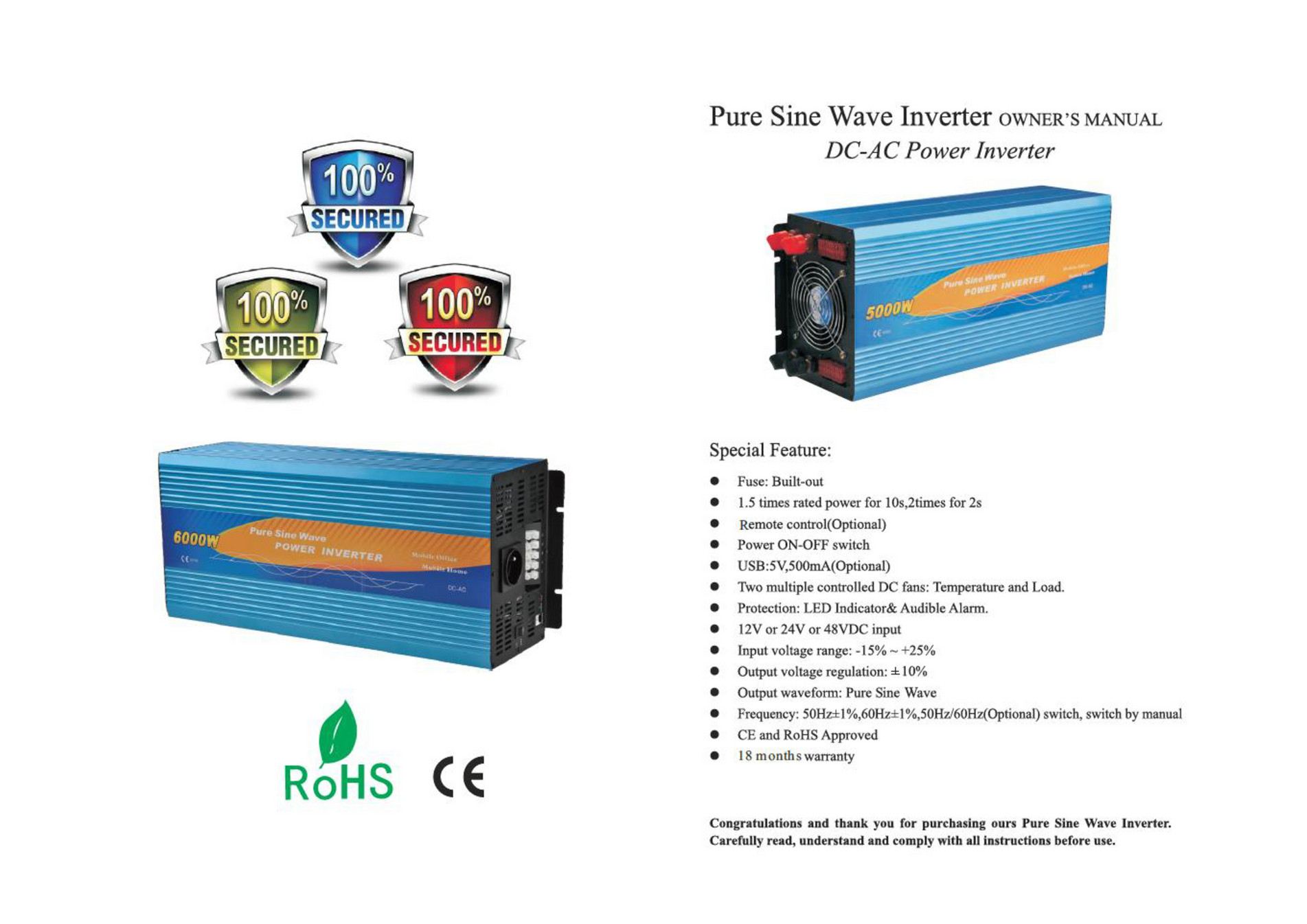 Solar Camping Australia Pure Sine Wave Inverter Manual Page 1 Led Indicator For Remote Ac Loads Created With Publitascom