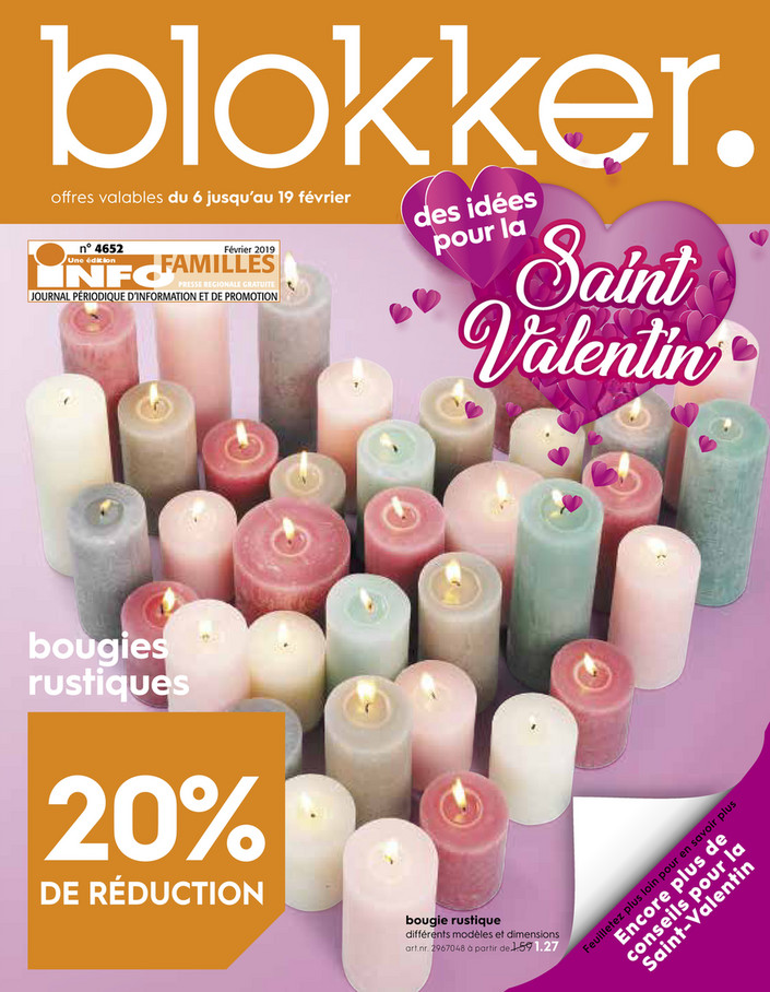Folder Blokker du 06/02/2019 au 19/02/2019 - Promotions de la semaine 6