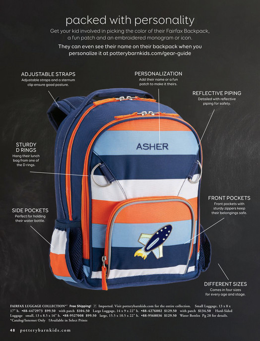 packed with personality Get your kid involved in picking the color of their Fairfax  Backpack, ... 3cff881e94