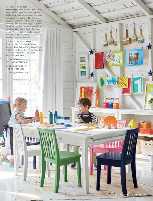 Pottery Barn Kids Pbk August 2017 Carolina Small Play Table