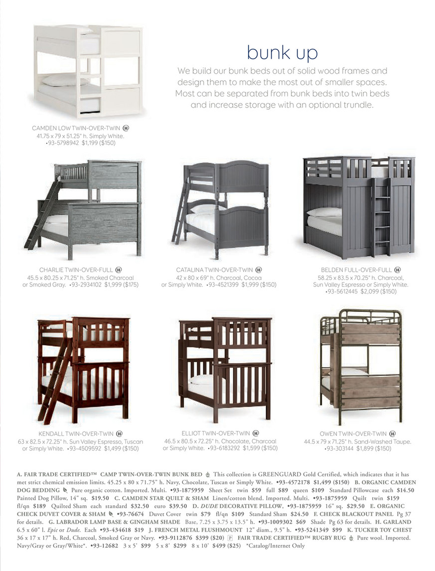 Picture of: Pottery Barn Kids Pbk August 2017 Charlie Bunk Bed Twin Over Full Smoked Charcoal