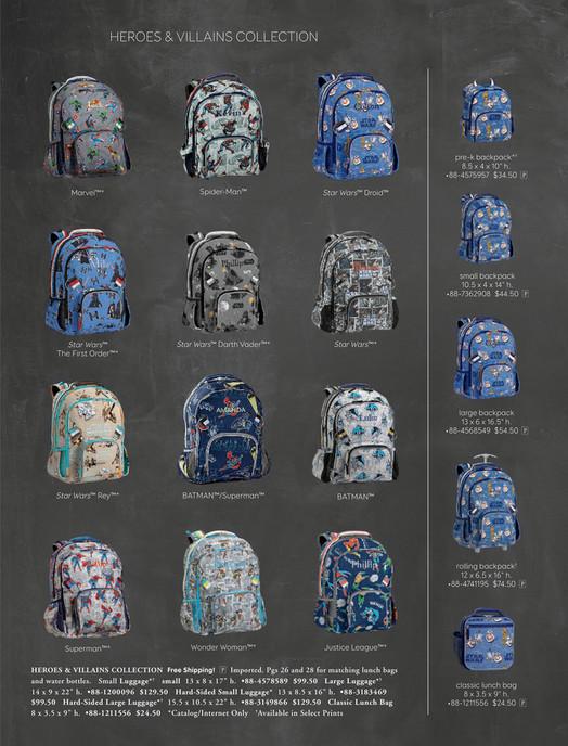 Pottery Barn Kids (PBK) - August 2017 - Large Backpack, Justice ... 381fcede58