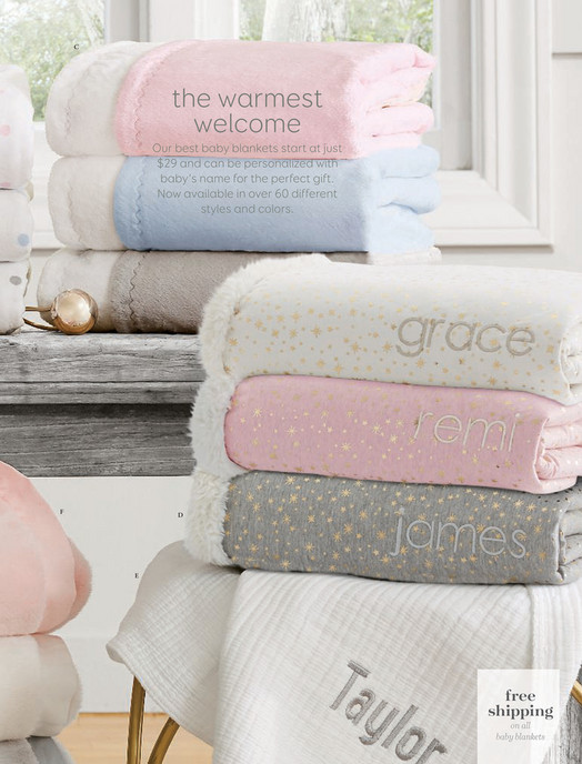 pottery barn kids pbk august 2017 metallic jersey sherpa baby