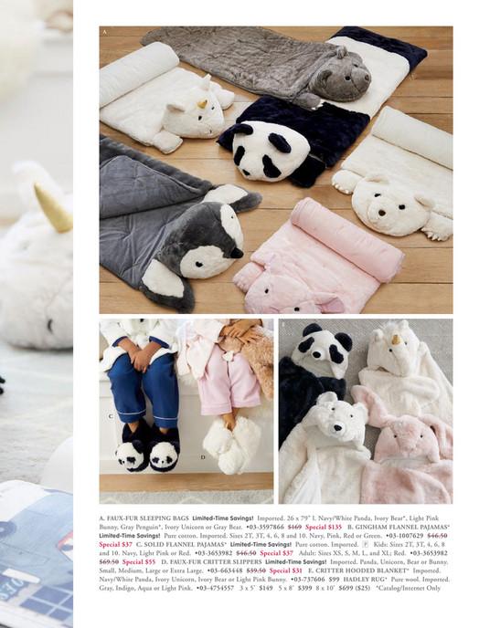 830e05680fad Pottery Barn Kids (PBK) - November 2017 - Faux-Fur Panda Sleeping ...
