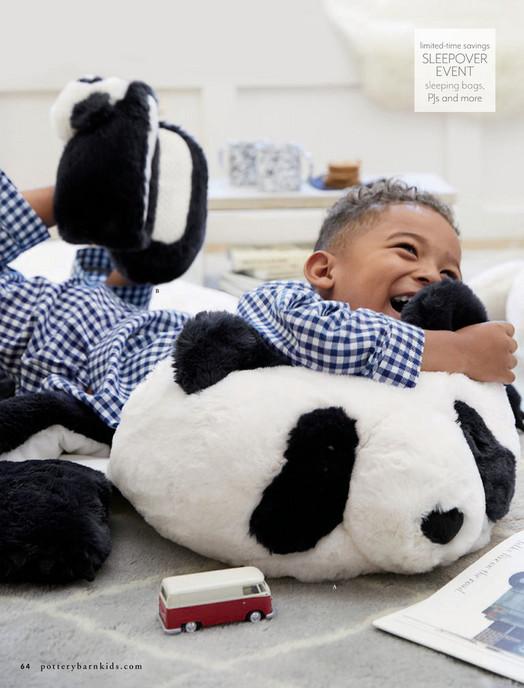 af0fe0a6f5 Pottery Barn Kids (PBK) - November 2017 - Faux-Fur Panda Sleeping ...