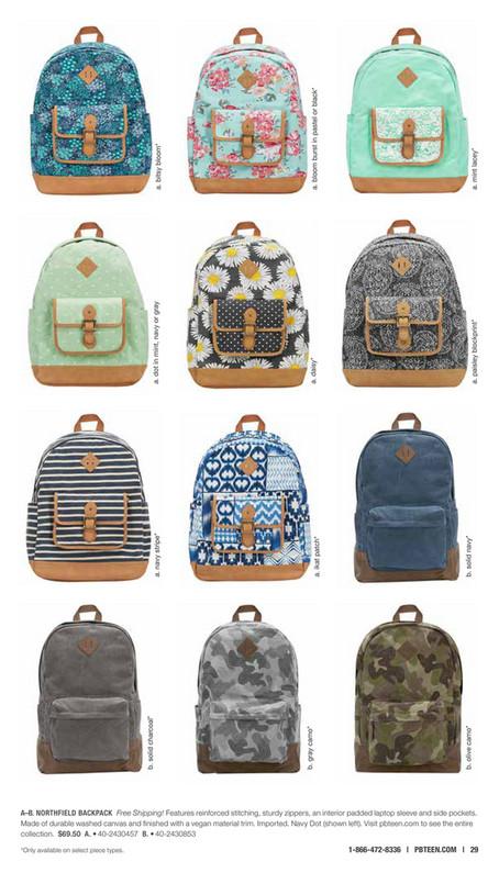 Pottery Barn Teen (PBTeen) - Gear 2016 - Northfield Mint Lacey Backpack d3f70be17e95c