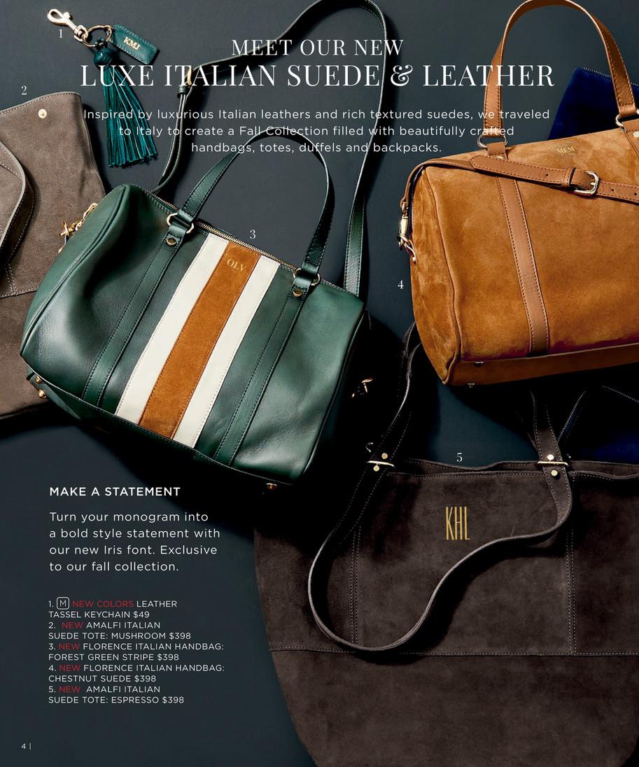 Florence Italian Suede Handbag Espresso