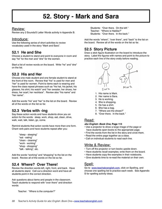 Easy English Readers - TeachersActivityGuide1 - Page 88-89 - Created