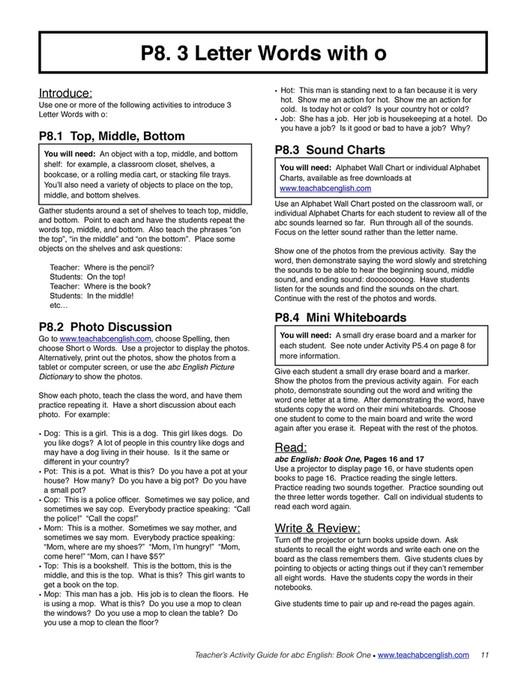 Easy English Readers Teachersactivityguide1 Page 10 11 Created