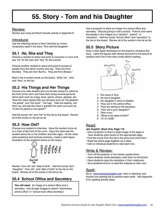 Easy English Readers - TeachersActivityGuide1 - Page 90-91 - Created