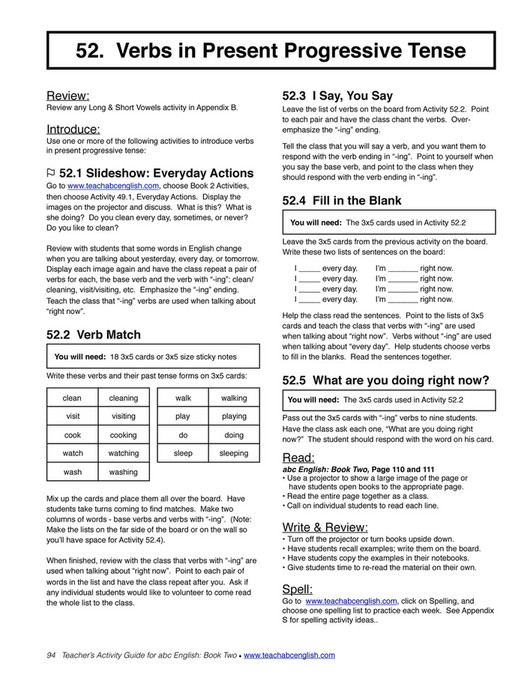 Easy English Readers - TeachersActivityGuide2 - Page 96-97 - Created