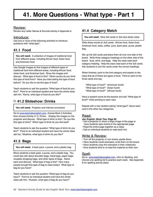 Easy English Readers - TeachersActivityGuide2 - Page 82-83 - Created