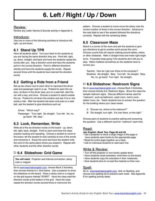 Easy English Readers - TeachersActivityGuide2 - Page 44-45