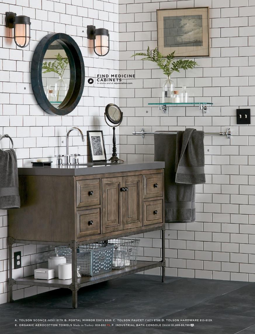 Rejuvenation Winter 2016 Alape Bucket Sink With Gray Trim