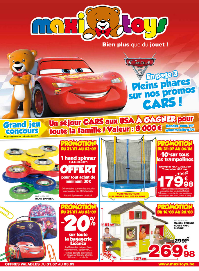 Folder Maxi Toys du 31/07/2017 au 03/09/2017 - maxi-toys-be-fr-catalogue-c8-2017-be-fr.pdf