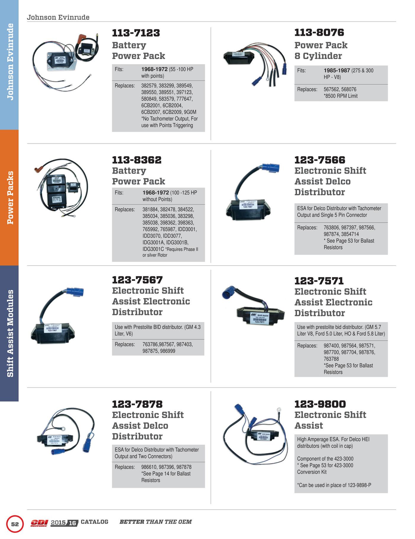 CDI 123-9800 Johnson Evinrude Shift Assist 123-9800