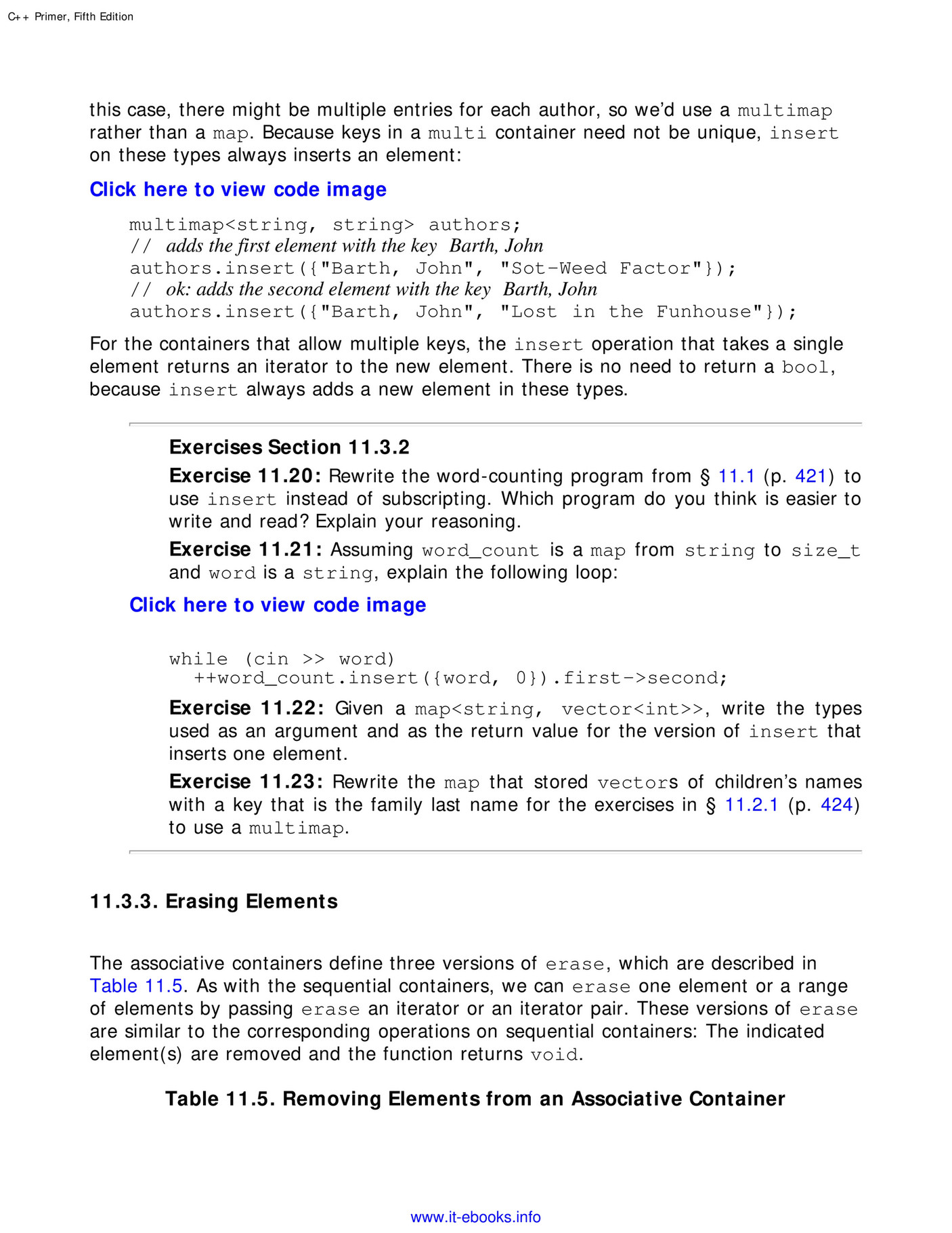 My publications - C++ Primer, 5th Edition - Page 544-545