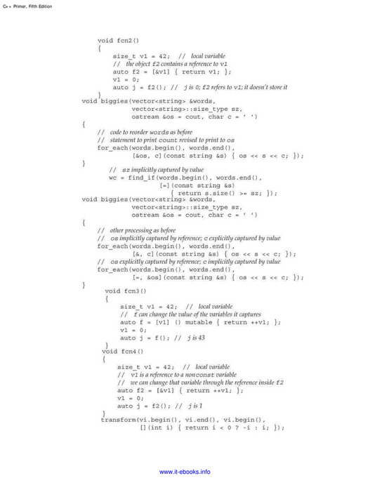 My publications - C++ Primer, 5th Edition - Page 1294-1295