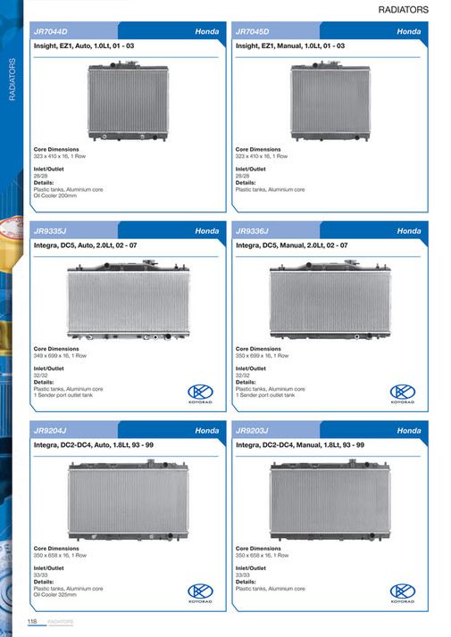 Cooldrive - 2014 Engine Cooling Catalogue - Page 120-121