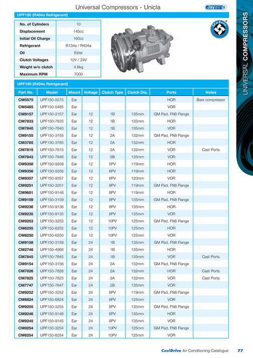 Cooldrive - 2014 Air Conditioning Catalogue - Page 78-79 - Created
