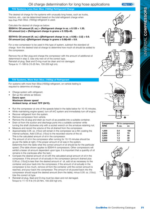 Cooldrive - 2014 Air Conditioning Catalogue - Page 72-73 - Created