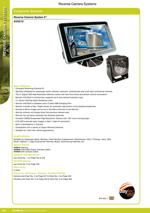 Cooldrive - 2016 Electrical Accessories Catalogue - Page 520