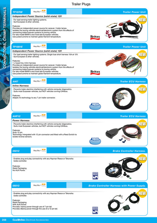 Cooldrive - 2016 Electrical Accessories Catalogue - Page 274-275