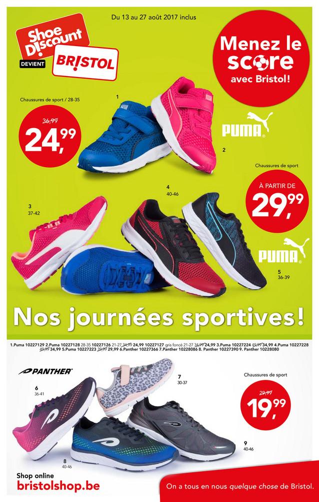 Folder Bristol du 13/08/2017 au 27/08/2017 - Shoe Discount Semaine 33 Sport.pdf