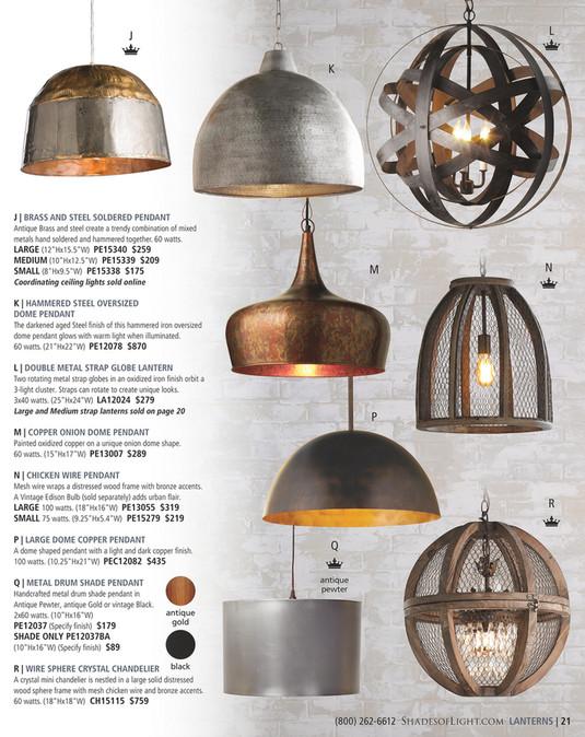 Shades Of Light Modern Eclectic 2016 Rustic Metal Strap Globe Lantern Medium 3