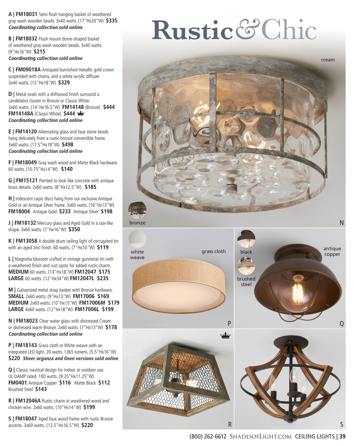 Shades Of Light Seaside Escape 2019 Crown Ceiling Light