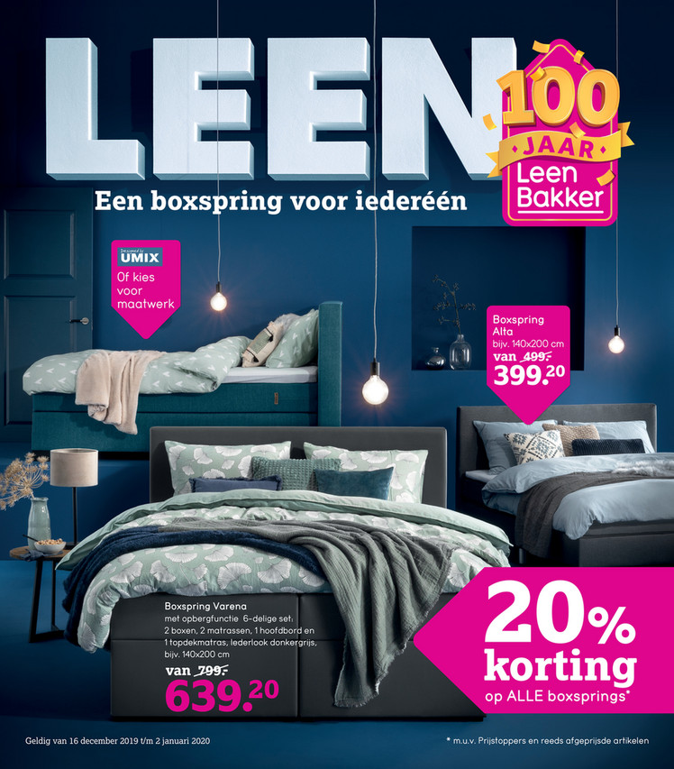 Leen Bakker folder van 16/12/2019 tot 02/01/2020 - Weekpromoties 51