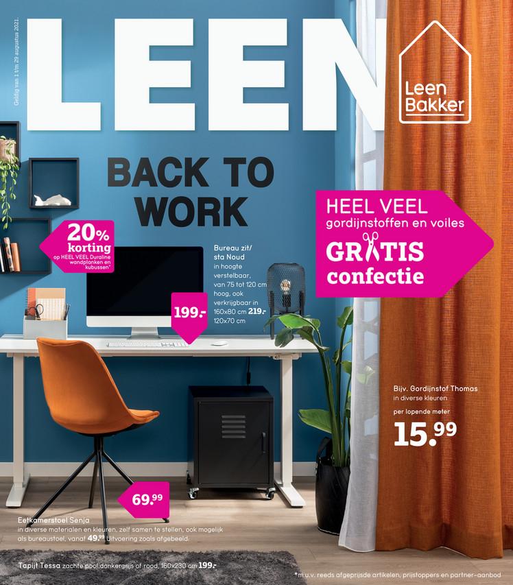 Leen Bakker folder van 02/08/2021 tot 29/08/2021 - Weekpromoties 31