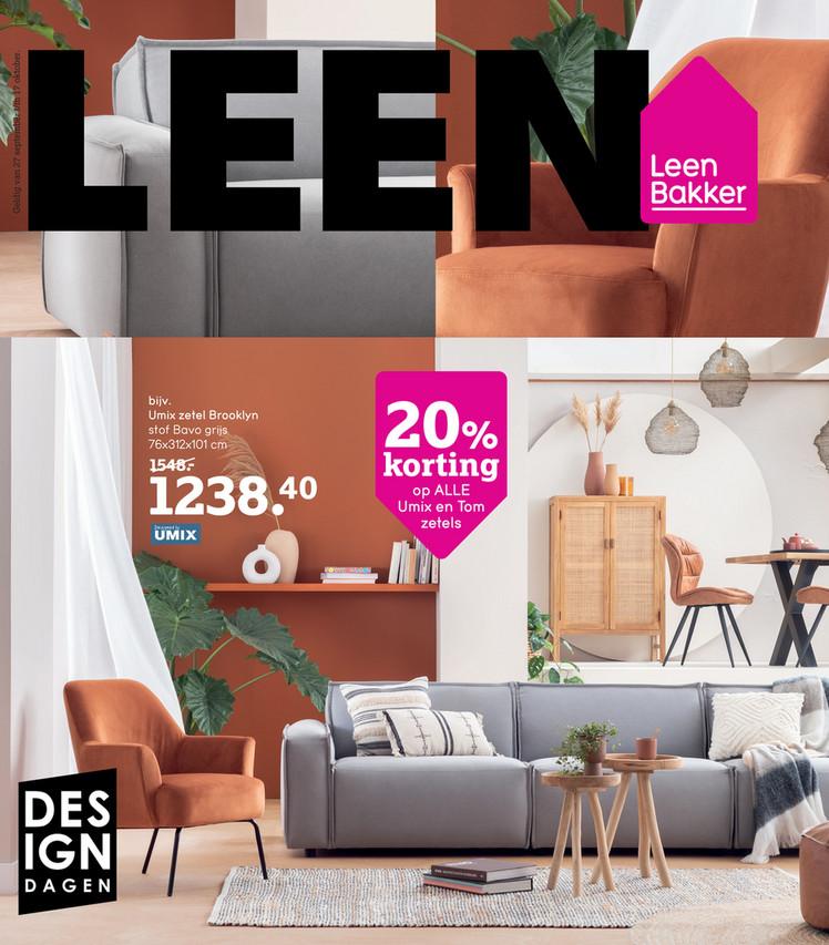 Leen Bakker folder van 27/09/2021 tot 17/10/2021 - Weekpromoties 39